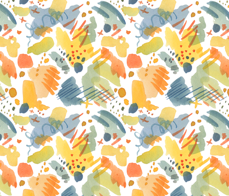 An Artist's Mind fabric by mamacreative on Spoonflower - custom fabric