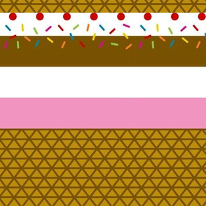 Ice Cream Stripe Small