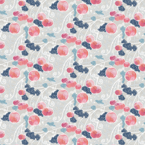 Peachy Pink Party fabric by amborela on Spoonflower - custom fabric