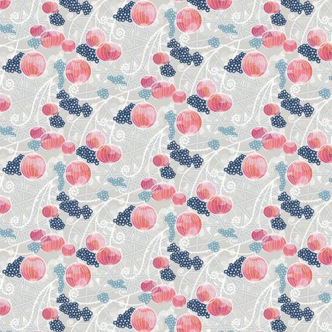 Peachy Pink Party by Amborela fabric by amborela on Spoonflower - custom fabric