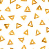 Gold yellow random triangles