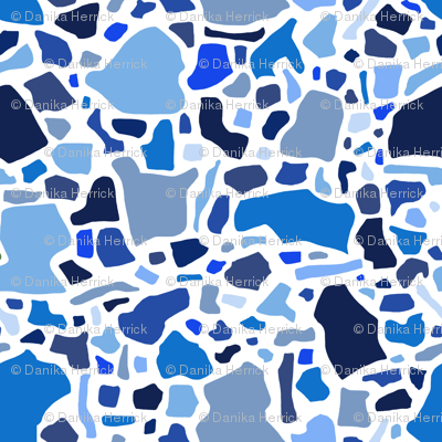 Confetti in Blues