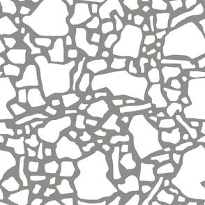 Confetti In Grey and white