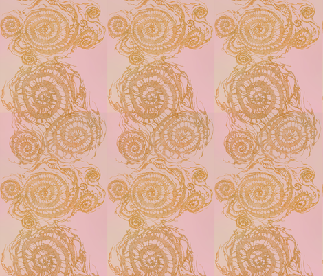 SOC-green-red-faded-rose-LM-rust fabric by greenlotus on Spoonflower - custom fabric