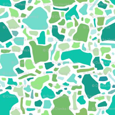 Confetti in Multi -Greens and Aqua