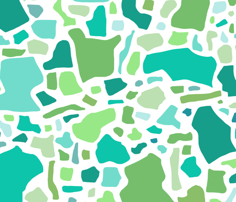 Confetti in Multi -Greens and Aqua fabric by danikaherrick on Spoonflower - custom fabric