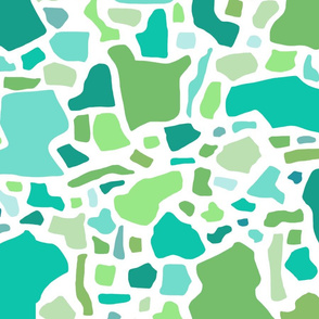 Confetti in Multi -Greens and Aqua