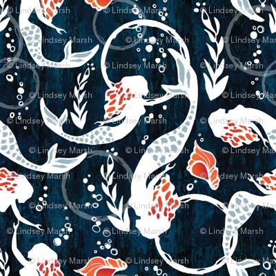 watercolor mermaids
