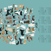 2019 dog breeds tea towel calendar - gulf blue