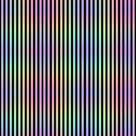 Rainbow_Stripe_2blk fabric by karwilbedesigns on Spoonflower - custom fabric