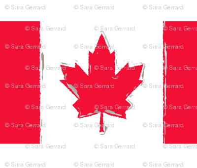 Canada Day grunge