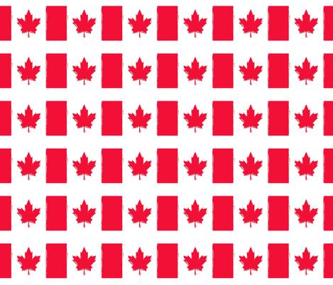 Canada Day grunge fabric by sara_gerrard on Spoonflower - custom fabric