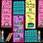 I Love Books - Bookmarks  / black