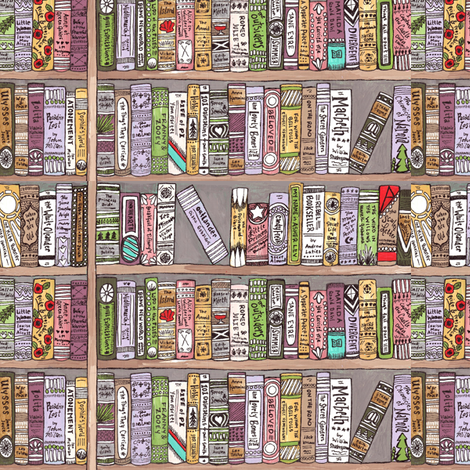 Belle's Library fabric by sweetsequels on Spoonflower - custom fabric