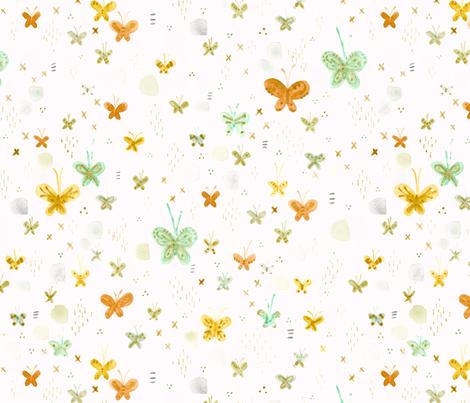 Field of Butterflies - © Lucinda Wei fabric by lucindawei on Spoonflower - custom fabric