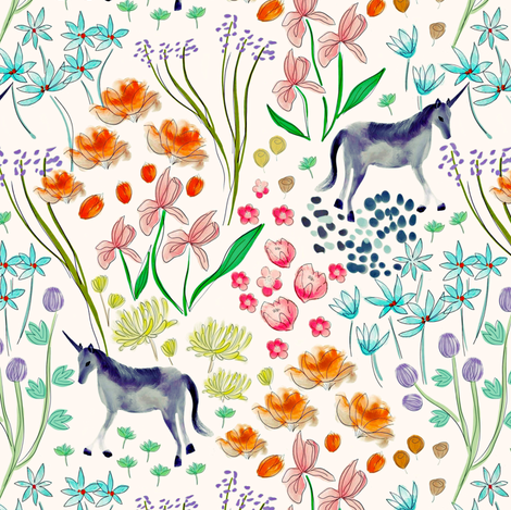 In the Garden fabric by susan_polston on Spoonflower - custom fabric