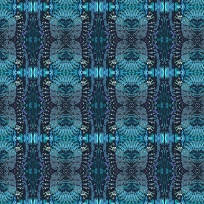 Native Pattern 1 Aqua Blue