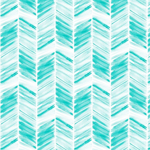 watercolor feather - teal