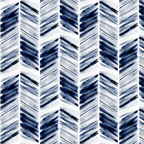 (small scale) watercolor feather - navy fabric by littlearrowdesign on Spoonflower - custom fabric