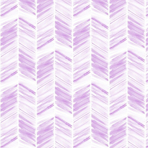 watercolor feather - lilac