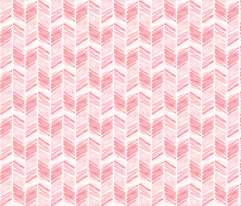 (small scale) watercolor feather - dark pink fabric by littlearrowdesign on Spoonflower - custom fabric