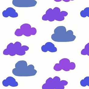 Purple puff clouds