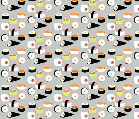 on a roll fabric by annaboo on Spoonflower - custom fabric