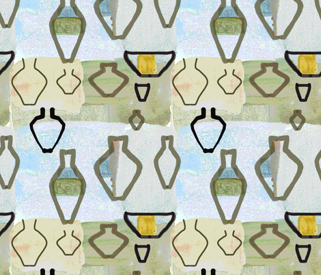 Muddy Palette fabric by herbal_things on Spoonflower - custom fabric