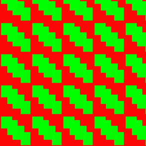 Red and Green Pattern