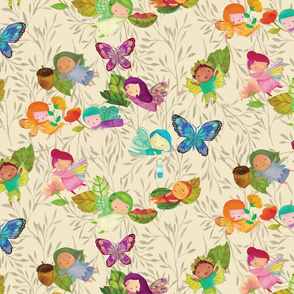 Fairies in the Garden {Ivory}
