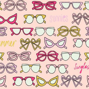 sunglasses fabric // cute summer girls sunnies sunglasses beach design - pink and yellow