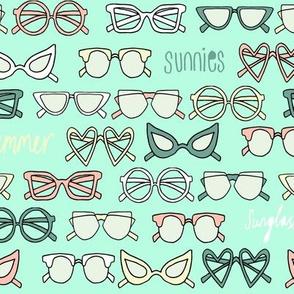 sunglasses fabric // cute summer girls sunnies sunglasses beach design - tropical colors
