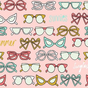 sunglasses fabric // cute summer girls sunnies sunglasses beach design - pink yellow mint