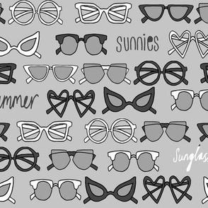 sunglasses fabric // cute summer girls sunnies sunglasses beach design - grey