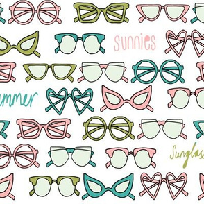 sunglasses fabric // cute summer girls sunnies sunglasses beach design - pink lime
