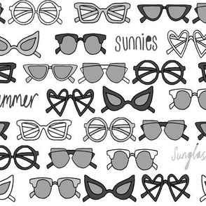 sunglasses fabric // cute summer girls sunnies sunglasses beach design - charcoal