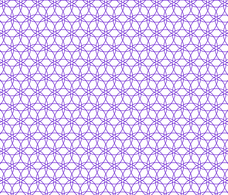 Interlocking Floral (purple on white) fabric by chiral on Spoonflower - custom fabric