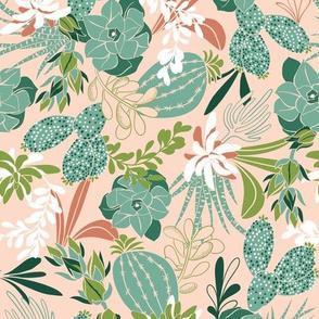 Succulent Garden - Desert Blush Pink