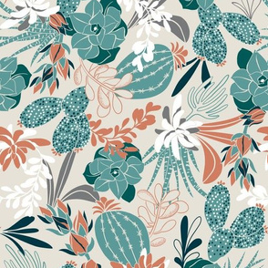 Succulent Garden - Tan