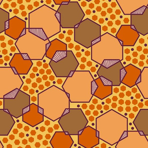 Intersecting Hexagons (Earthy)
