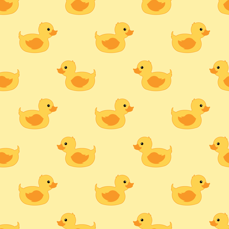 Rubber duck  fabric by elena_naylor on Spoonflower - custom fabric