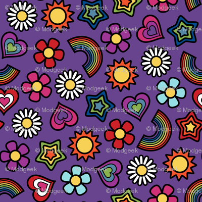 Flower Power Ditsy Small Violet