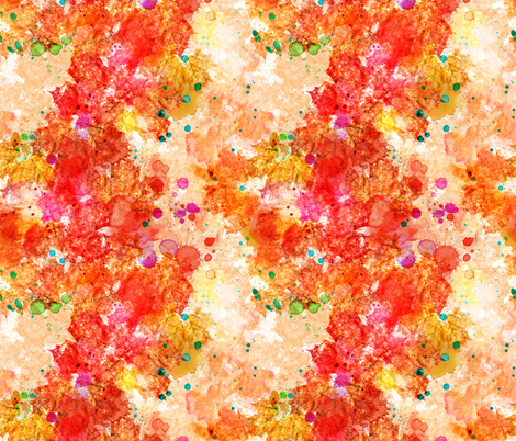 Abstract Watercolor Leaves 'n Splats fabric by xoxotique on Spoonflower - custom fabric