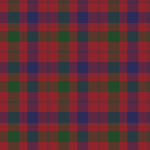 "Isabella  (MacTavish) Fraser Wedding tartan, 6"" muted (1/3 scale)"