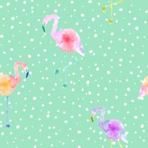 Indy Bloom Design Flamingo Dot Teal