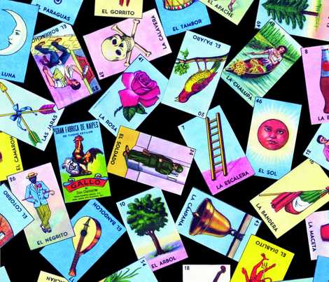 Loteria scatter fabric by jellymania on Spoonflower - custom fabric