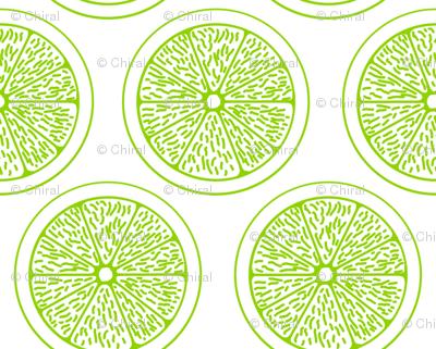 Lime Slices on White