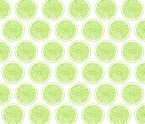 Lime Slices on White fabric by chiral on Spoonflower - custom fabric
