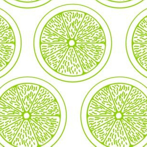 Lime Slices on White