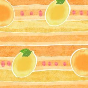 Fruity Stripes  for LinenCotton